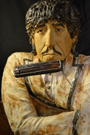 Bob Dylan in stoneware clay